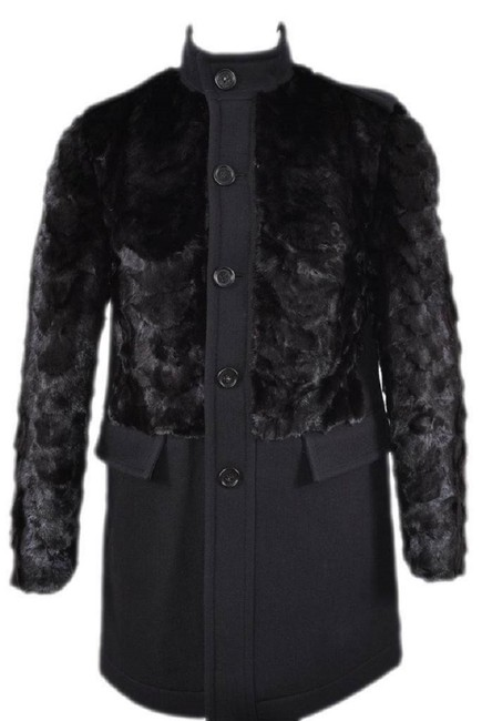 Item - Black New Prorsum Men's Heavy 4k Mink Wool Car Jacket Coat Size 4 (S)