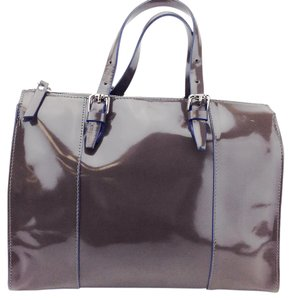 INNUE' Patent Leather Satchel Cross Body Bag