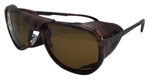 Vuarnet Polarized VUARNET Sunglasses VL 1315 0007 Havana w/Side Shields & Cord