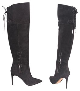 Dolce Vita Suede Otk Over The Knee Black Boots