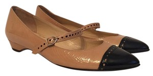 Butter Cap Toe Work Crinkled Leather Size 7.5 Nude Flats