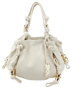 Michael Kors Pebbled Leather Drawstring Roslyn Shoulder Bag