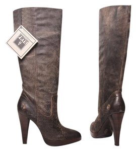 Frye Harlow Campus Knee High Tall Vintage Tan Boots