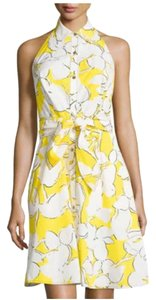 Diane von Furstenberg short dress Eden Garden Yellow Cotton Dryclean Only Sleeveless Floral on Tradesy