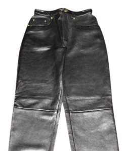 Isabella Bird Designer 5 Pocket Genuine Leather Open Bottoms Front Zip & Snap Boot Cut Jeans