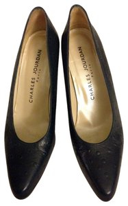 Charles Jourdan Navy Pumps