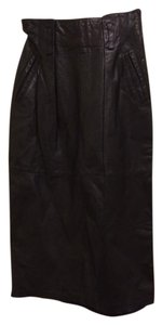 PIA RUCCI Leather Lined Skirt Black