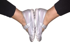 Skechers Velcro Street Slip On silver Athletic