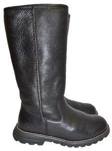 UGG Australia Tall Boot Heel BLACK LEATHER Boots