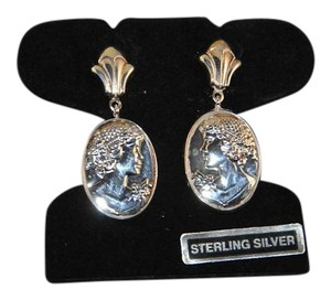 "Milor Milor Italy "" Godess ""Sterling Silver Post & Friction Backs Earrings"