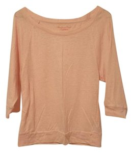 American Eagle Outfitters Spring Cotton Soft Comfortable Top Peach
