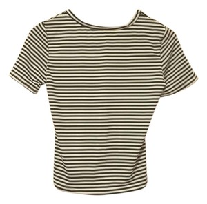 Other Striped Crop T Shirt White