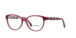 Chanel NEW Chanel CH 3292 Pink Cat Eye Lace Striped Eyeglasses Frames