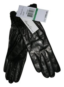 Kenneth Cole Leather Raw Edge Gloves