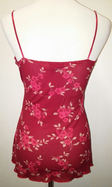 Hot Tempted Don't Be Afraid Spagetti Strap Top Red, Beige, Floral