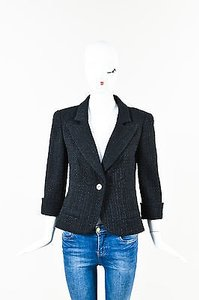 Chanel Wool Textured Black Jacket