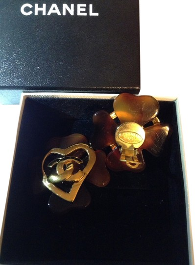 Preload https://item3.tradesy.com/images/chanel-browngold-clip-on-earrings-1968682-0-0.jpg?width=440&height=440