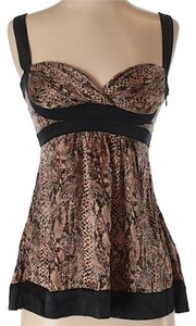 bebe Spaghetti Strap Top brown, black