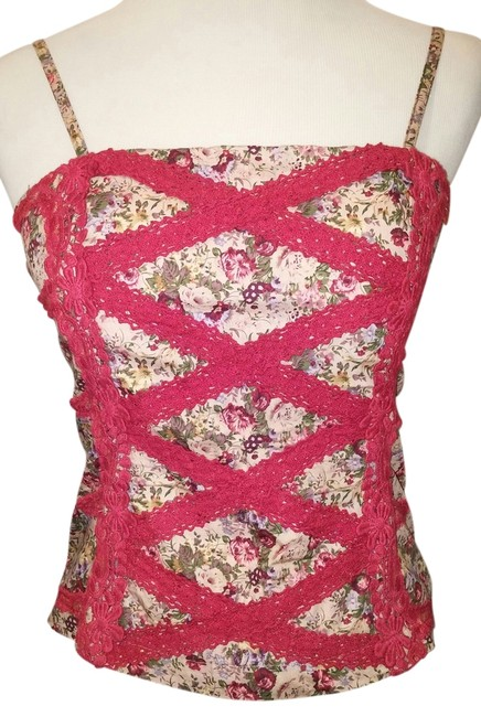 Other Spaghetti Strap Top Red Floral