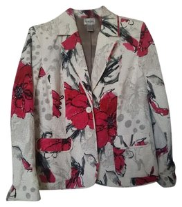 Chico's Multi pink, cream, taupe and greys with beading Blazer