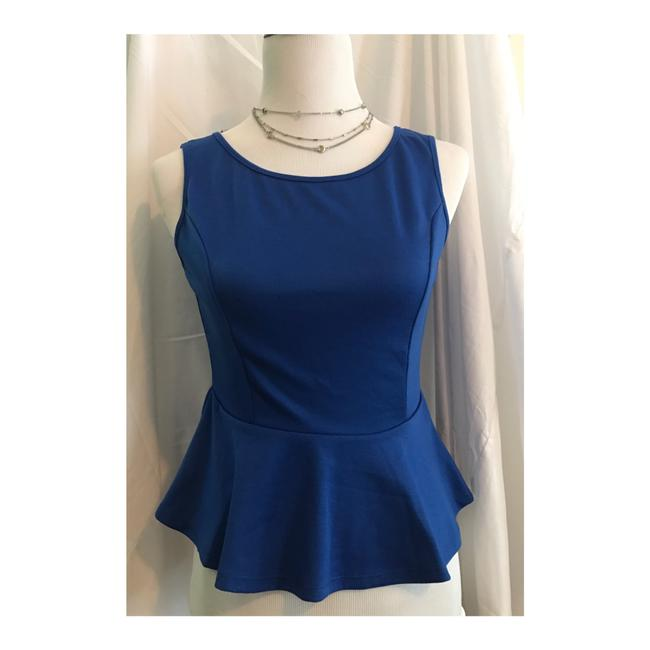Nella Fantasia Dressy Party Blouse Top Royal Blue