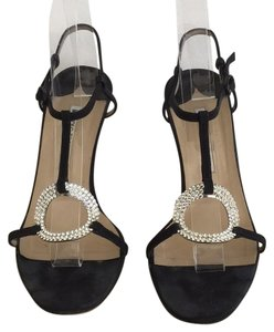Manolo Blahnik Satin Sandal Black Sandals