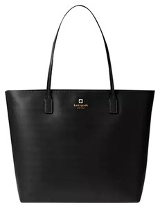 Kate Spade Large Leather Tote in Black