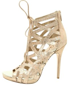 Sam Edelman Snakeskin Trendy Nude, Light Gold Pumps