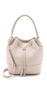DKNY Bucket Leather Drawstring Cross Body Bag
