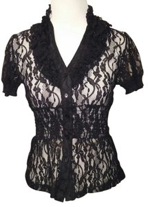 Basic Universal Top Black Lace