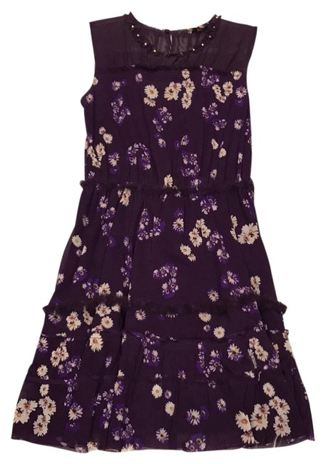 Preload https://img-static.tradesy.com/item/19687415/juicy-couture-blue-floral-print-studded-scoop-neck-sleeveless-short-casual-dress-size-2-xs-0-3-650-650.jpg