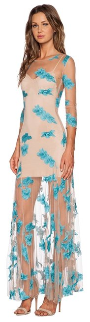 Item - Blue Aqua XS And Orchid Long Cocktail Dress Size 2 (XS)