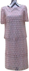JoEd Sophisticates short dress Light Pink Crochet on Tradesy