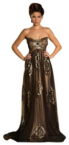 MNM Couture Strapless Evening Gown Long Night Out Party Dress
