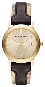 Burberry NWT Burberry The City Gold-tone Leather Watch