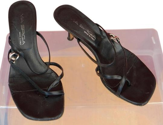 Via Spiga Strap Black Sandals