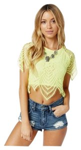 For Love & Lemons T Shirt Yellow