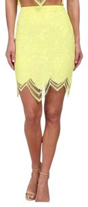 For Love & Lemons Mini Skirt Yellow