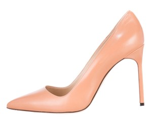 Manolo Blahnik Pointed Toe Bb Leather Sexy Beige, Pink Pumps