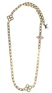 Louis Vuitton Gold-tone Louis Vuitton Flower Power chain necklace