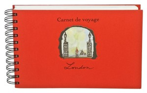 Louis Vuitton Louis Vuitton Red Multicolor Carnet de Voyage London Travel Journal