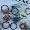 Coach Keychain Lock Style Gold Silver or Rose GoldNWT Image 1