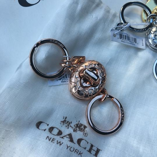 Coach Keychain Lock Style Gold Silver or Rose GoldNWT Image 2