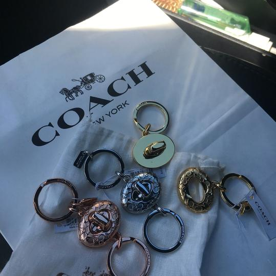 Coach Keychain Lock Style Gold Silver or Rose GoldNWT Image 3