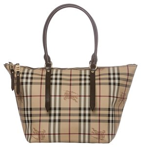 Burberry Tote in Chocolate/Beige