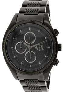 Armani Exchange Armani Exchange Men's AX1605 Black Stainless-Steel Quartz Watch