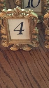 Dark Navy Ecru And Gold Table Numbers