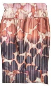 Tracy Reese Skirt Burgundy beige