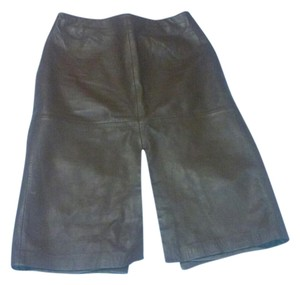 Cache Genuine Leather Vintage Skirt Brown