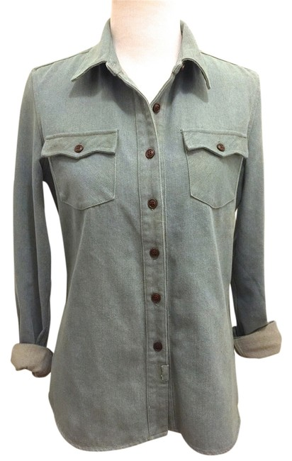 Preload https://item3.tradesy.com/images/denim-button-down-top-size-8-m-1968967-0-0.jpg?width=400&height=650